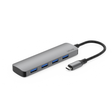 Load image into Gallery viewer, USB C - USB 3.0 Hub with 4 USB 3.0 ports