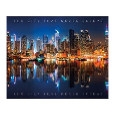 "Quadro NY Skyline ""The City That Never Sleeps"""