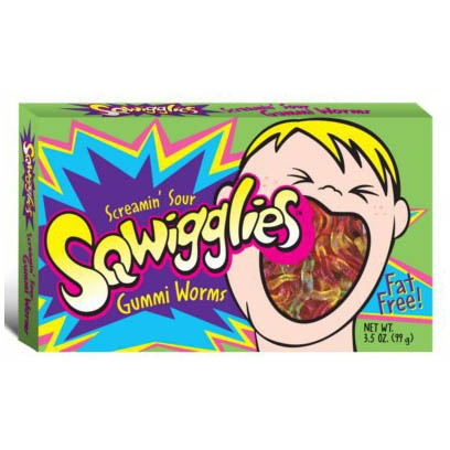 SQWIGGLIES SCREAMIN' WORMS CARAMELLE GOMMOSE ASPRE - Jerry America