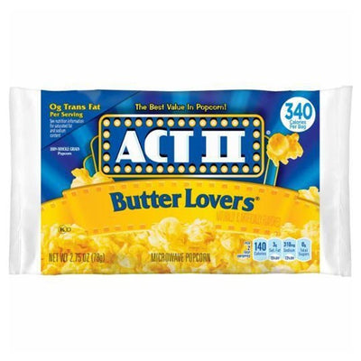 ACT II BUTTER LOVERS MICROWAVE POPCORN - Jerry America