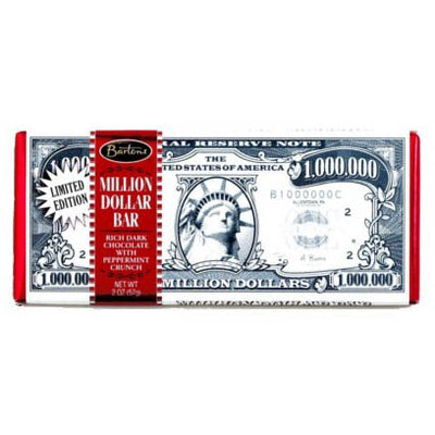 BARTON'S MILLION DOLLAR DARK CHOCOLATE PEPPERMINT BAR - Jerry America