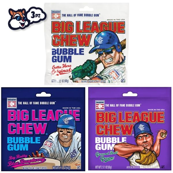 BIG LEAGUE GUM, 3 GUSTI - Jerry America