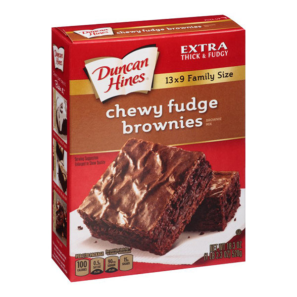 DUNCAN HINES CHEWY FUDGE BROWNIE MIX - Jerry America