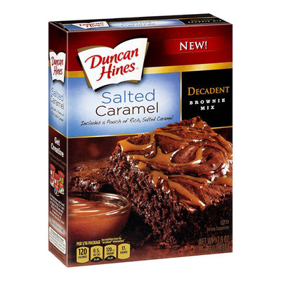 DUNCAN HINES DECADENT SALTED CARAMEL BROWNIE MIX - Jerry America
