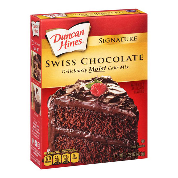 DUNCAN HINES SWISS CHOCOLATE CAKE MIX - Jerry America