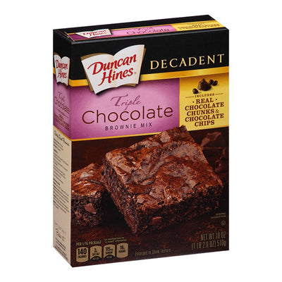 DUNCAN HINES TRIPLE CHOCOLATE BROWNIE MIX - Jerry America
