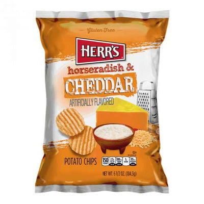 HERR'S CHEDDAR AND HORSERADISH POTATO CHIPS 185 gr - Jerry America