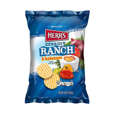 HERR'S CREAMY RANCH HABANERO POTATO CHIPS 28 gr - Jerry America