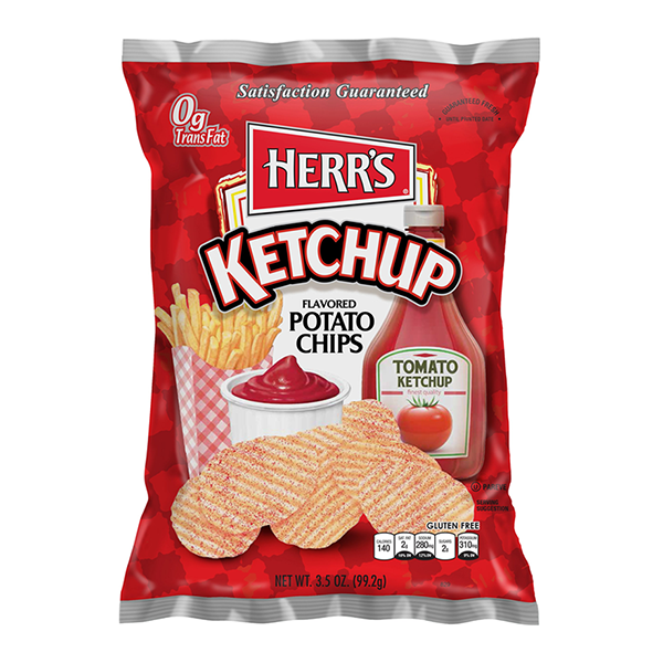 HERR'S KETCHUP POTATO CHIPS 99 gr - Jerry America