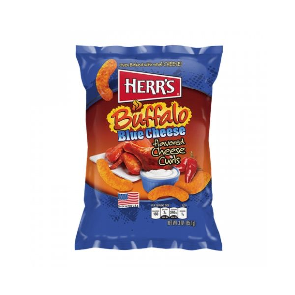 HERR'S BUFFALO BLUE CHEESE CURLS 85 gr - Jerry America