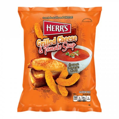 HERR'S GRILLED CHEESE AND TOMATO CHEESE CURLS 184 gr - Jerry America