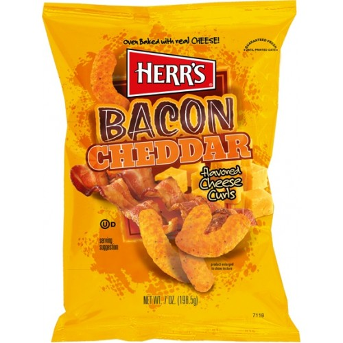 HERR'S BACON CHEDDAR CHEESE CURLS 199 gr - Jerry America