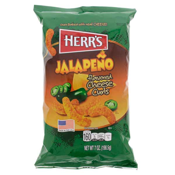 HERR'S JALAPENO POPPERS POTATO CHIPS 198 gr - Jerry America