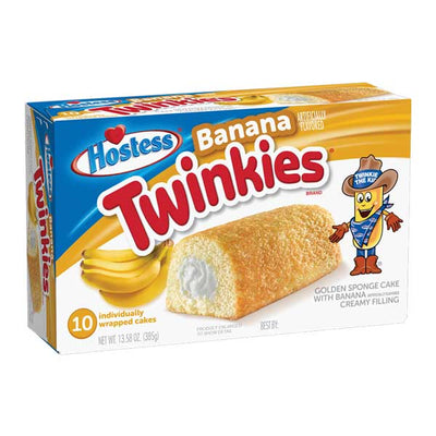 HOSTESS BANANA TWINKIES BOX OF 10 - Jerry America