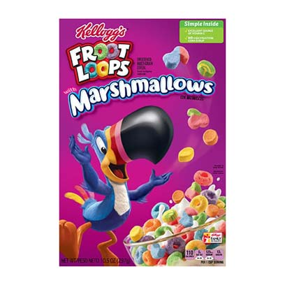 KELLOGG'S FROOT LOOPS WITH MARSHMALLOW CEREALI - Jerry America