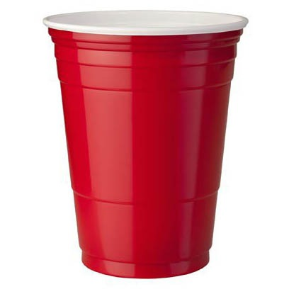 RED PLASTIC CUPS 50 cl - 20 bicchieri - Jerry America