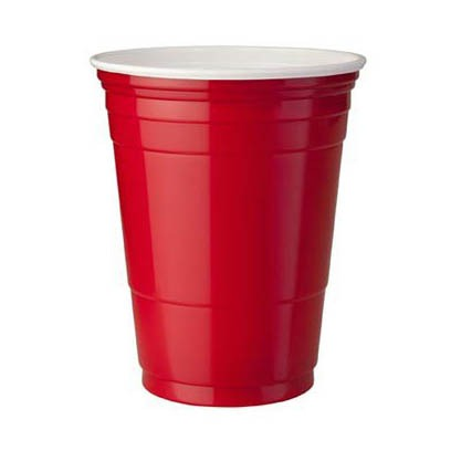 RED PLASTIC CUPS 30 cl - 20 bicchieri - Jerry America