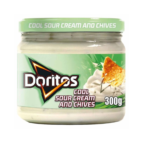 DORITOS COOL SOUR CREAM AND CHIVES - Salsa al formaggio ed erbe da 300 gr