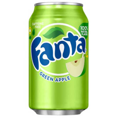 FANTA GREEN APPLE - Fanta alla mela verde - Jerry America