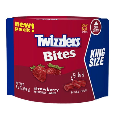 TWIZZLERS STRAWBERRY FILLED BITES POUCH 226 gr - Jerry America