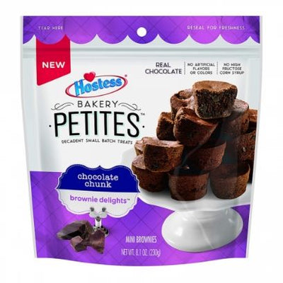 HOSTESS BAKERY PETITES CHOCOLATE CHUNK BROWNIE DELIGHTS - Jerry America