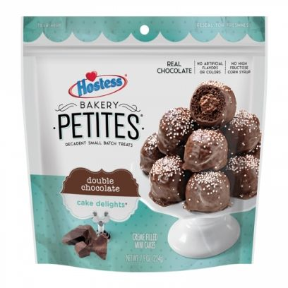 HOSTESS BAKERY PETITES DOUBLE CHOCOLATE CAKE DELIGHTS - Jerry America