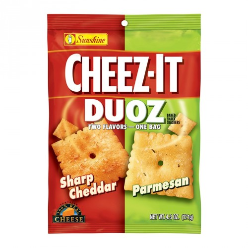 CHEEZ IT DUOZ SHARP CHEDDAR AND PARMESAN - Jerry America