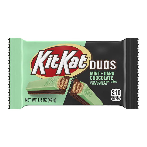 KIT KAT DUOS MINT & DARK CHOCOLATE - kit kat alla menta e cioccolato fondente