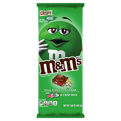 M&M MINT CRISPY BAR WITH MINIS - Jerry America