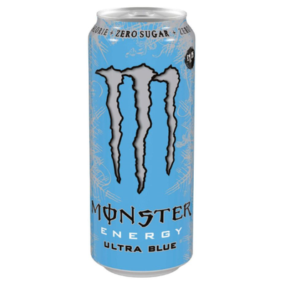 MONSTER ULTRA ZERO BLUE - energy drink al lampone da 458 ml