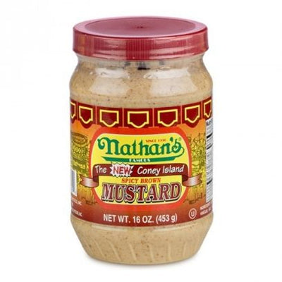 NATHAN'S FAMOUS SPICY BROWN MUSTARD - Jerry America