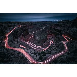 Shafer Canyon By Night