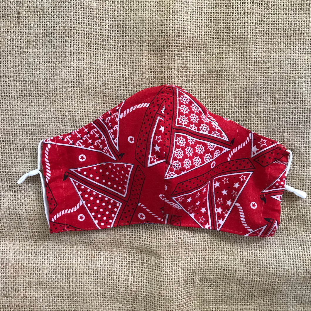 Vintage Nautical Red Bandana