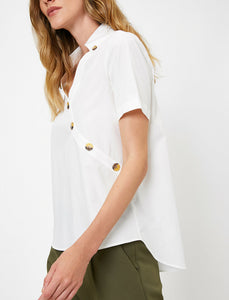 BUTTON DETAILED WHITE TOP