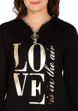 Load image into Gallery viewer, BLACK LOVE HOODIE