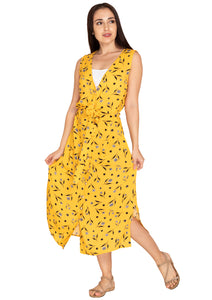 YELLOW FLORAL PRINT