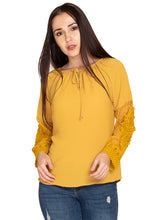 Load image into Gallery viewer, YELLOW EMBROIDED TOP