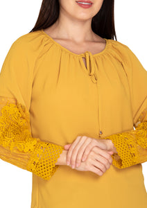 YELLOW EMBROIDED TOP