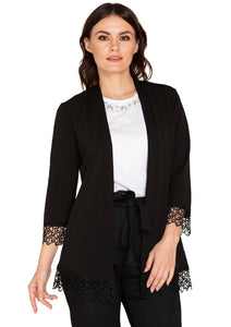BLACK DESIGNER SHRUG