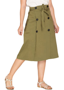 SIDE POCKETS SKIRT