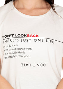 DON'T LOOK BACK T SHIRT