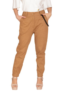 KHAKi CHINOS WITH CHAIN STYLE