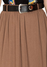 Load image into Gallery viewer, DUSTY BROWN SKIRT WITH BELT