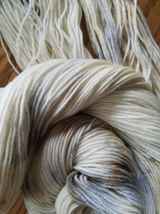 Marble, hand dyed yarn, sport weight yarn, 100% Non-superwash Merino