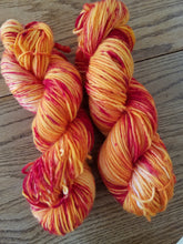 Load image into Gallery viewer, Singles, 100% SW Merino, DK weight, Fire