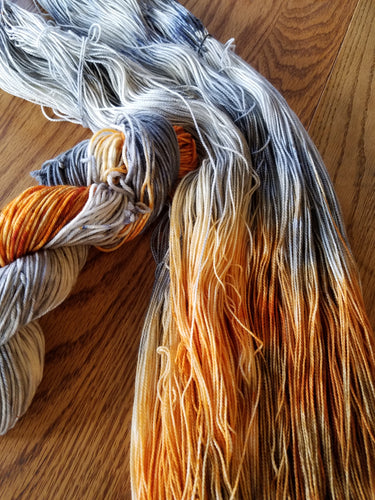 Rusty Tin Roof,  Hand dyed yarn, Fingering weight, DK weight