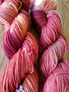 Old Barn,  Hand dyed yarn, Fingering weight, sock weight, DK weight