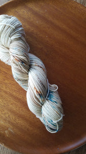 Sea Glass and Sand,  Hand dyed yarn, Fingering weight, sock weight, sport weight, DK weight, Worsted weight, Bulky
