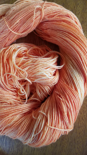 Coral Leaves,80/20 Superwash Merino Bamboo, hand dyed yarn, fingering weight yarn, sock yarn