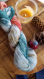 In the Meadow, Painterly Series, Hand dyed yarn, Fingering weight, sock weight, sport weight, DK weight, Worsted weight, Bulky